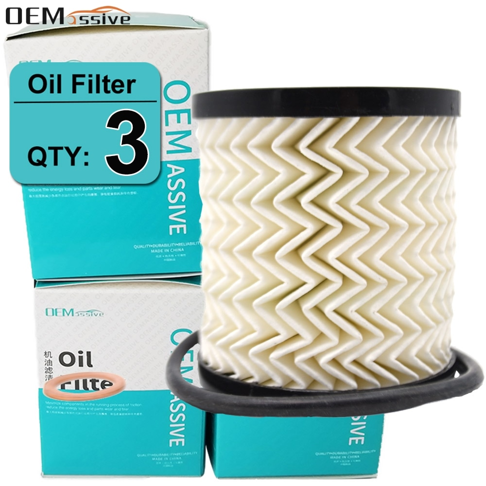 Conjunto de 3 11427622446 filtros de aceite para Citroen C2 C3 C4 C-ELYSE DS3 Peugeot 307 Ford Focus 807 III Galaxy MINI Paceman Crossover