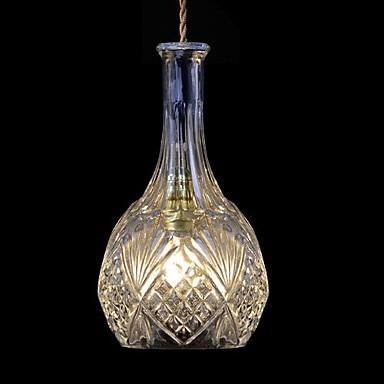 Bottle Shape Hanging Modern LED Pendant Light Fixtures For Home Lighting, Luminaria Lustres E Pendente De Sala