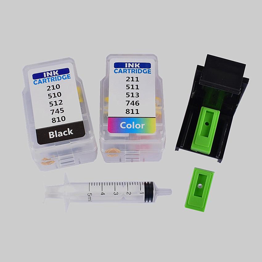 Cartucho inteligente rifll, kit para canon PG 345 CL 346, cartucho de tinta para canon pixma MG2580 MG2400 IP2880