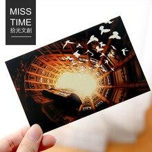 30 Pcs/lot voyage monde beau paysage série cadeau mode lumineux papeterie carte postale anniversaire cadeau carte pour Message