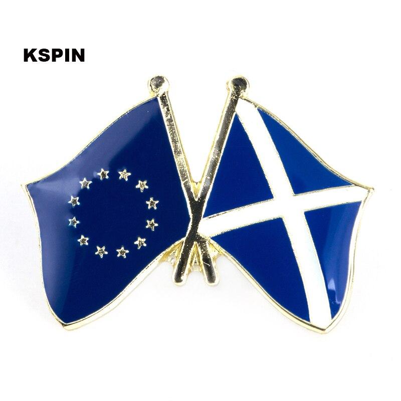 União europeia escócia amizade bandeira emblema bandeira pino 300 peças muito xy0045