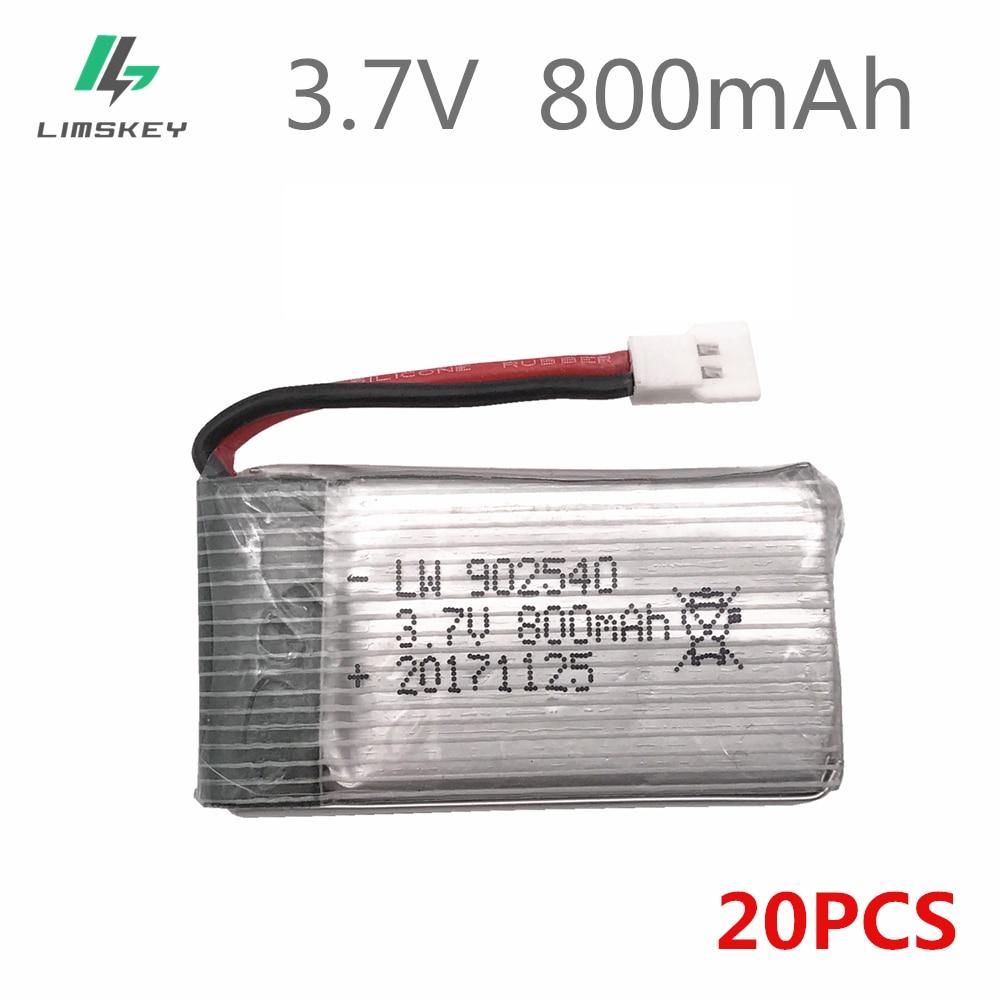 20 шт./лот 3,7 V 800 mAh Lipo батарея для Syma X5 X5C X5SC X5SW X5HW X5UW вертолет батарея 3,7 V 800 mAh Li-po батарея 902540 25C