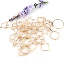Vintage mezclar la forma de rosa antigua Metal dorado hueco pegamento del marco en blanco abalorios conectores colgante DIY accesorios de joyería