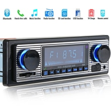 Bluetooth Vintage autoradio lecteur MP3 stéréo USB AUX classique autoradio Audio