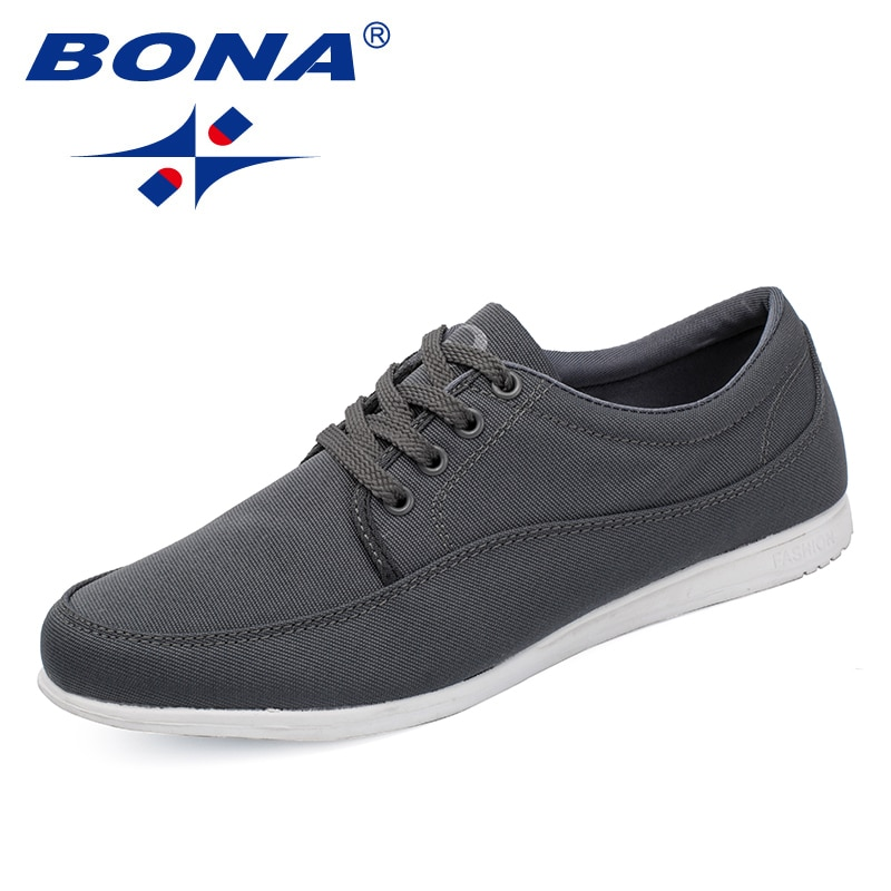 BONA-أحذية رياضية قماشية مريحة للرجال ، أحذية كلاسيكية جديدة ، أحذية ترفيهية بأربطة ، شحن مجاني