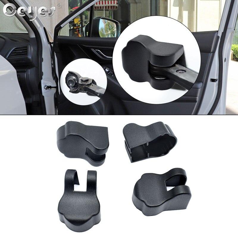 Ceyes Acessórios Do Carro Styling Auto Fechadura Da Porta Rolha Limitante Cobre Caso Para Subaru Impreza Forester Tribeca XV BRZ Clipe Fivela