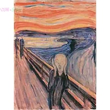 Le cri dedvard Munch   3D, bricolage, peinture au diamant, strass, point de croix, broderie en diamant, artisanat, résine, NEW1233
