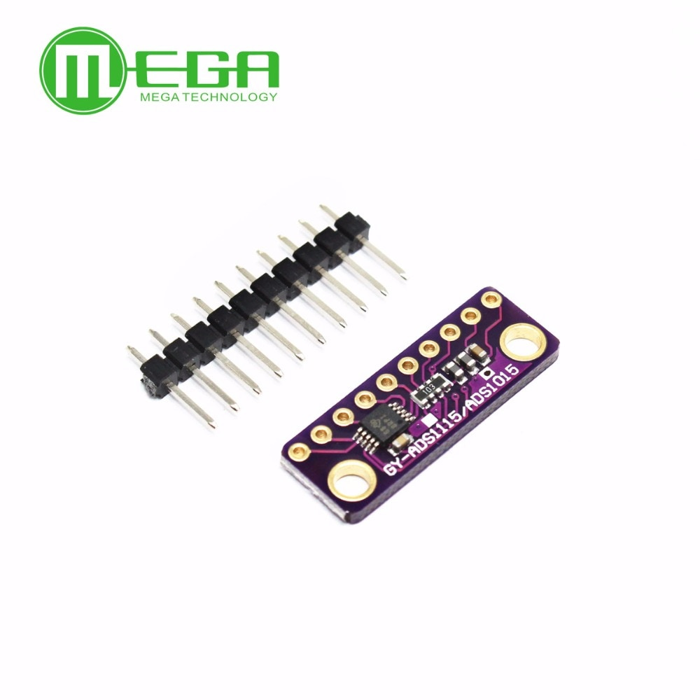 I2C ADS1115 ADS1015 16 Bit ADC Módulo de 4 canales con amplificador de ganancia programable 2,0 V a 5,5 V