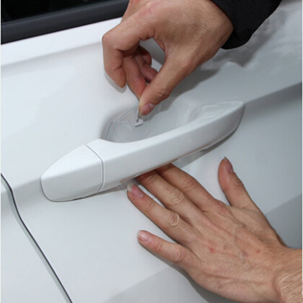 16Pc/LOT Car door handle sticker protective film for Hyundai Solaris i20 ix25 i30 ix35 i40 HB20 HB20S Tucson Sonata accessories