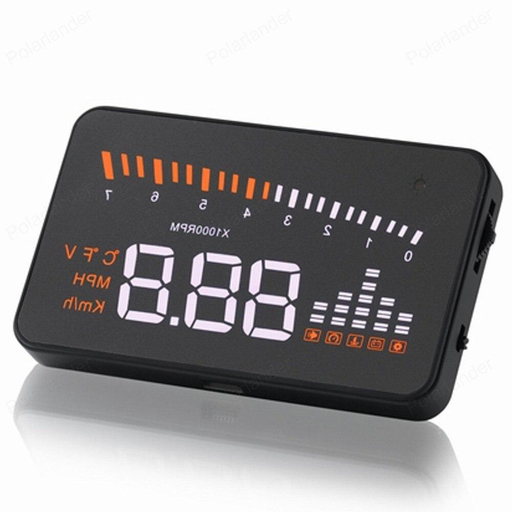 Pantalla principal de alarma MPH de KM Pantalla de coche de voltaje Digital multicolor pantalla HD de 3 pulgadas Gps inteligente X5 HUD