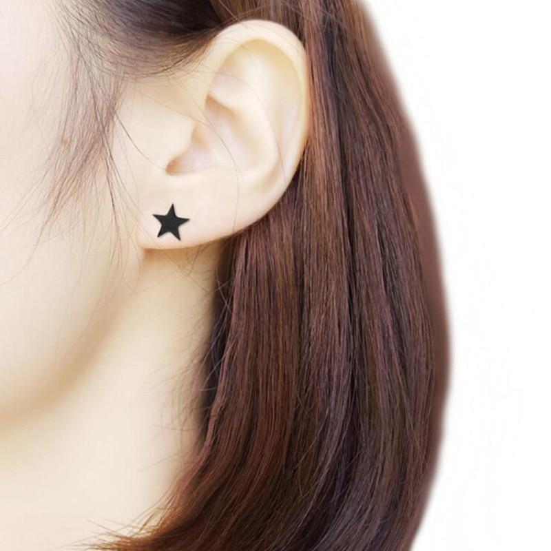Geometriai rozsdamentes acél fülbevalók nőknek és férfiaknak - Divatékszer - Fénykép 5