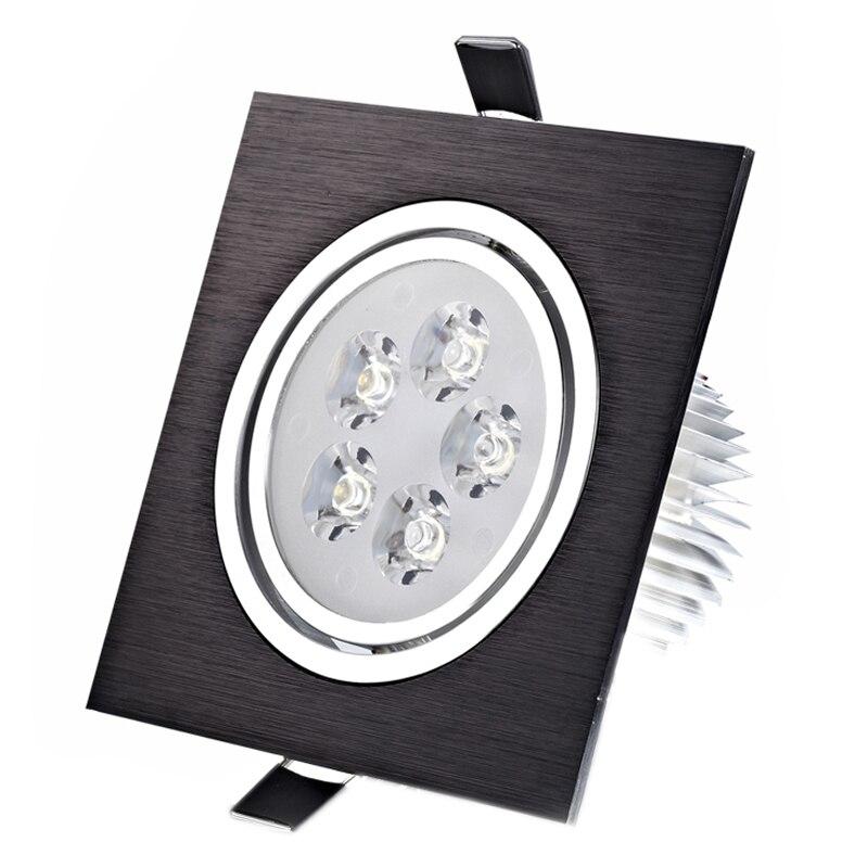Светодиодные светильники, квадратные встраиваемые точечные светильники, 3 Вт 5 Вт 7 Вт, Диммируемые пуховики, 110 В 220 В, домашнее освещение, алю...
