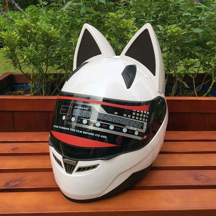 La NITRINOS Oreja de Gato casco de la motocicleta es una de cuatro temporada anti-Casco Para bruma