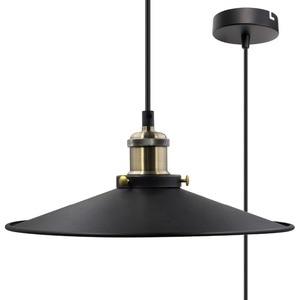 E27 Black Pendant Light Shade Vintage Metal Ceiling Hanging Lamp Shade Light Fixture for Kitchen Dining Room Restaurant Maximum