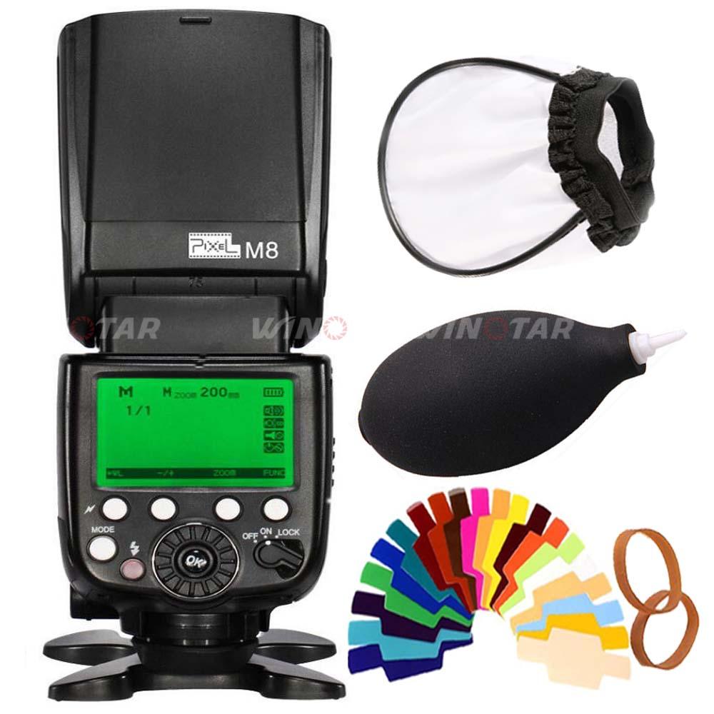Pixel M8 2,4 GHz Универсальная Беспроводная вспышка GN60 Speedlite для Canon Nikon Sony Panasonic Olympus Pentax DSLR Камеры Вспышка