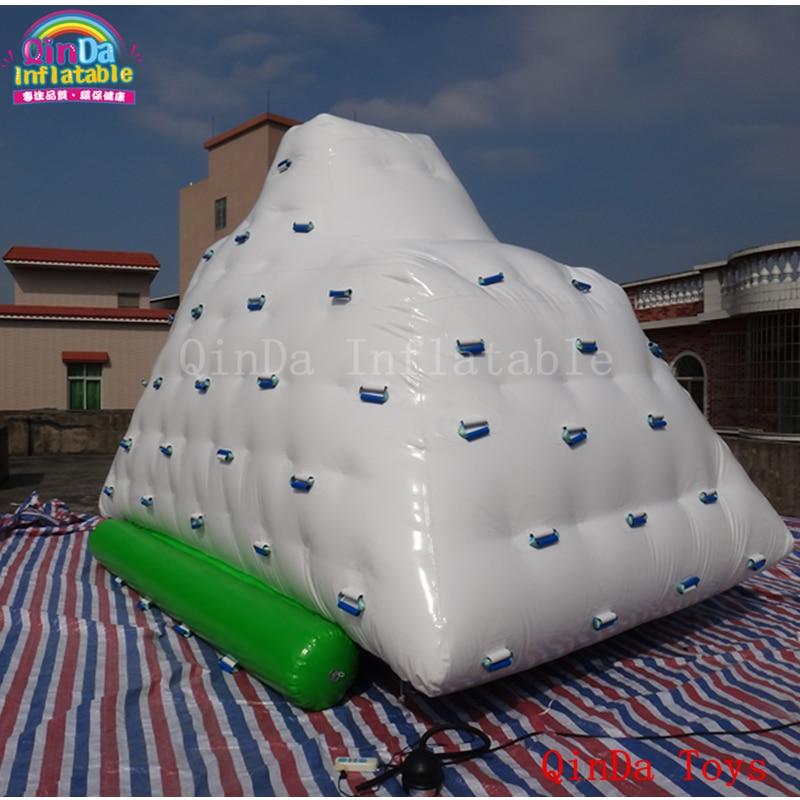 مضحك لعبة الماء نفخ aqua فيض تسلق جزيرة ، 3*2*2 متر نفخ العائمة فيض للبيع