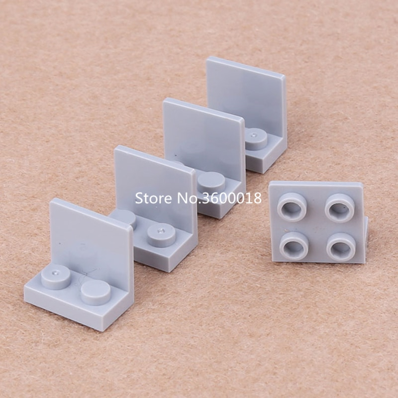 40pcs/lot Decool 2*2 Plate Compatible with 99207 Bracket 1x2 -2x2 MOC Bricks Parts DIY blocks set