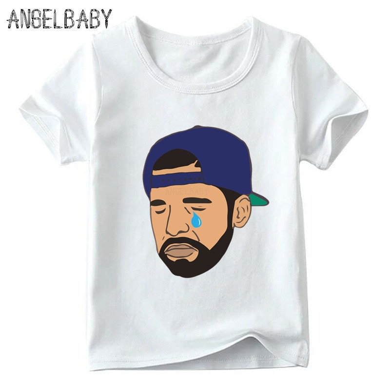 Niños famosa cantante de Rap Drake imprimir camiseta bebé niños/niñas verano manga corta Camiseta niños Casual ropa divertida, HKP5259