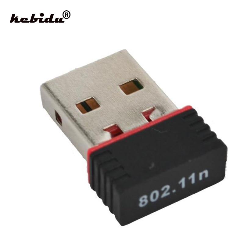 kebidu New 150Mbps 150M Mini Network Card Wireless USB WiFi LAN Adapter 802.11n/g/b wi-fi wi fi adapters antenna For PC Computer