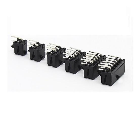 10 stücke Micro-Fit 3,0mm stecker wafer Dual reihen 2x1 2 Pin 4 6 8 10 12 14 16 18 20 24 Pin Rechtwinklig Durch Loch PCB 43045