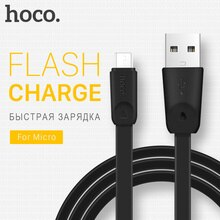 HOCO Micro USB Cable OTG Cable de carga de Cable Cables planos de transferencia de datos USB sincronizar el móvil teléfonos cargador para Xiaomi Samsung LG 2.4A 1M 2M
