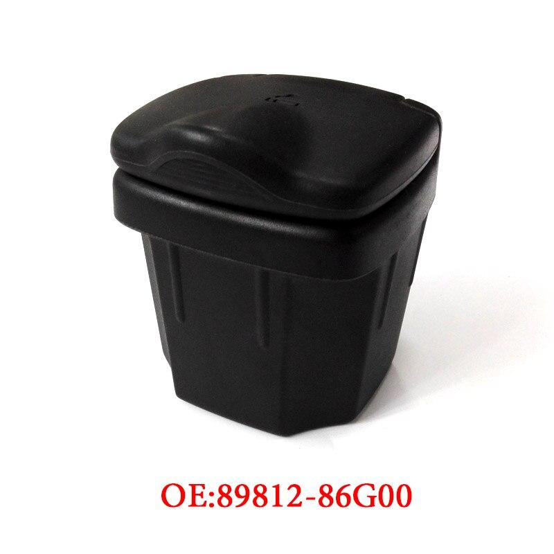 Preto cinzeiro de carro lixo pode armazenamento caixas de cinzas acessórios interiores automóveis para suzuki vitara alto sx4 swift S-CROSS 2010-2016