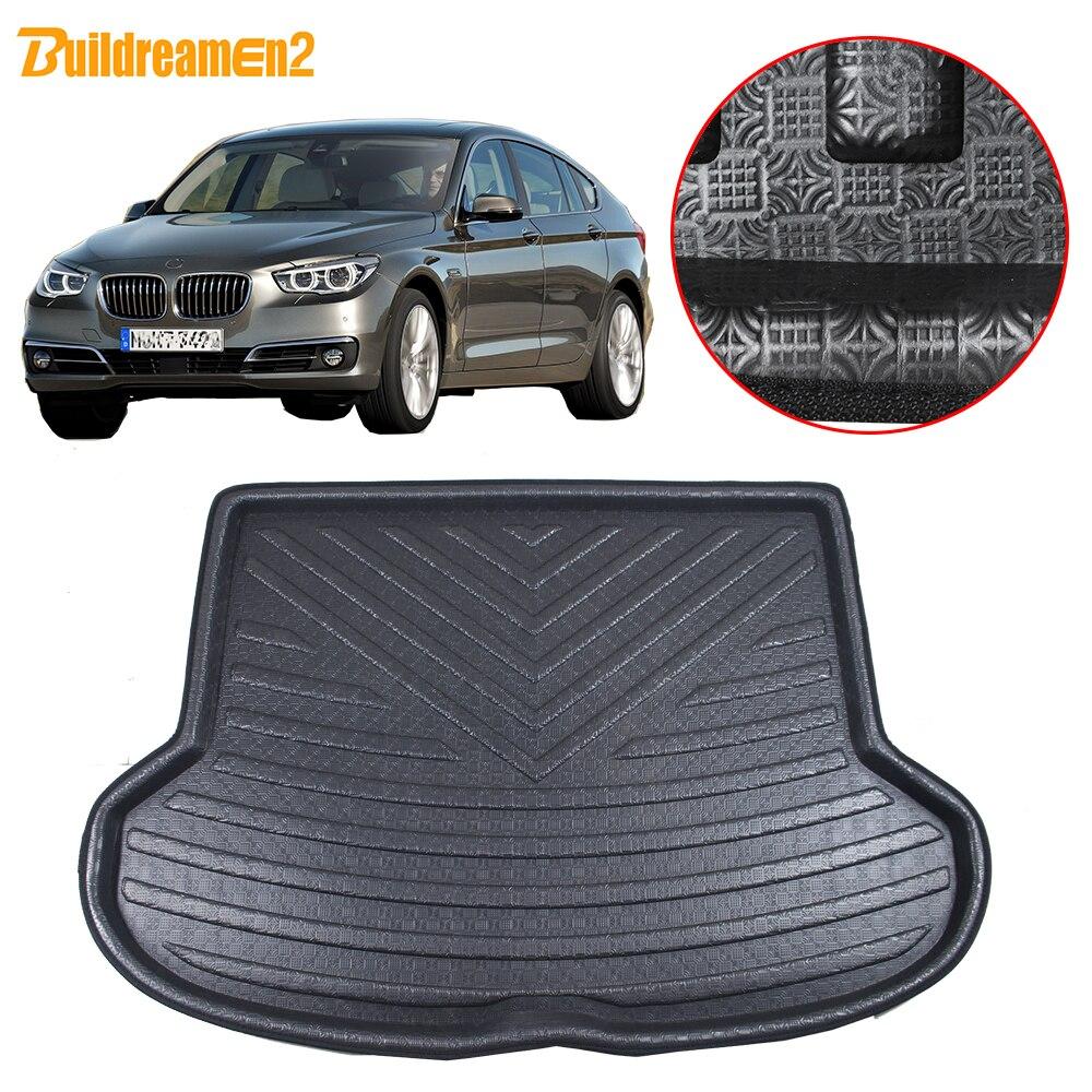 Buildreamen2 Car Tail Trunk Mat Floor Boot Tray Liner Cargo Carpet Mud Pad Waterproof For BMW 5 Series GT