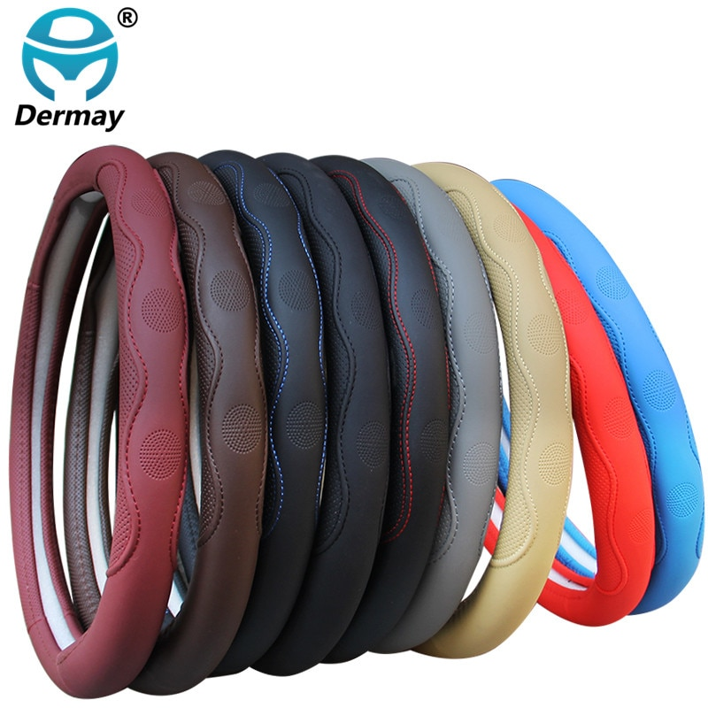 9 Colors Car Steering Wheel Cover Universal Volant Braid on the Steering-wheel Fashion Non-slip Funda Volante Auto Car Styling