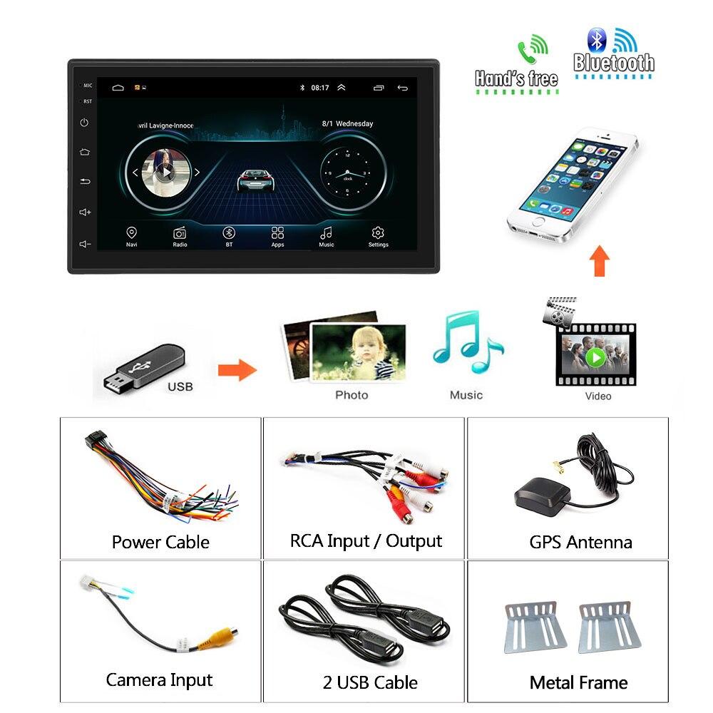 Podofo 2 din Android 9.1 Car Radio GPS Multimedia Player 2din Universal For Volkswagen Nissan Hyundai Kia toyota LADA Ford Honda