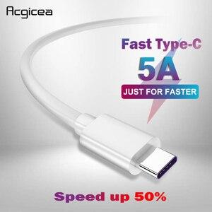 5 А USB Type C кабель, USB 3,1, быстрое зарядное устройство, Type-C, Supercharge кабель для Samsung S8 S9 Huawei P10 P20 Pro Mate 10, USB C кабели