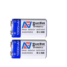 2 pcs/lot 1000 mAh Li-ion 9 V Batteries rechargeables