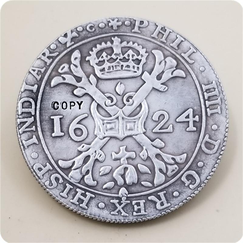 1624 español Países Bajos patagon-philip IV 2 florines 8 solas copia moneda envío gratis
