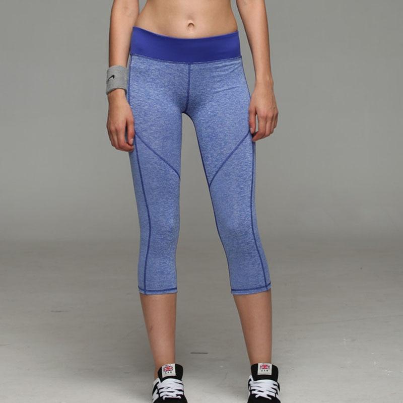 Las mujeres Capri, Legging Yoga 7 Pantalones deportes Atlético gimnasio Fitness de compresión Pantalones Slim Leggings
