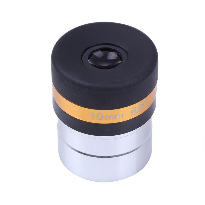 Широкоугольный объектив Celestron 1,25 дюйма, 62 градуса, 10 мм, для астрономического телескопа, HD асферический окуляр с полным покрытием, бесплатная доставка