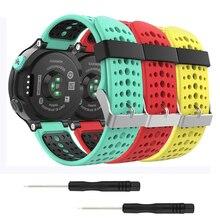 3Pcs Smart Watch Bands For Garmin Forerunner 230/220/235/620/630/735XT Silicone Wrist Strap Bracelet For Garmin Forerunner 235