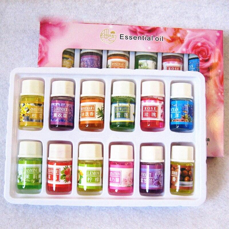Huiles essentielles pour aromathérapie lavande humidificateur huile avec 12 huile essentielle huile de Rose aromathérapie thé vert