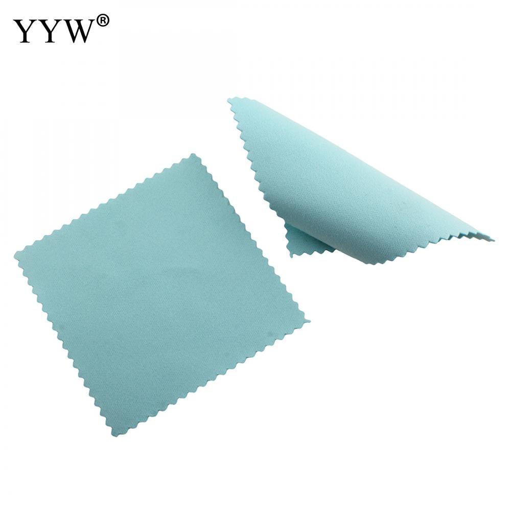 10 Pcs 80*80mm Pano de Polimento de Prata Azul De Limpeza Cleaner Polimento Anti Manchas DIY Ferramentas Jóias de Alta Qualidade acessórios