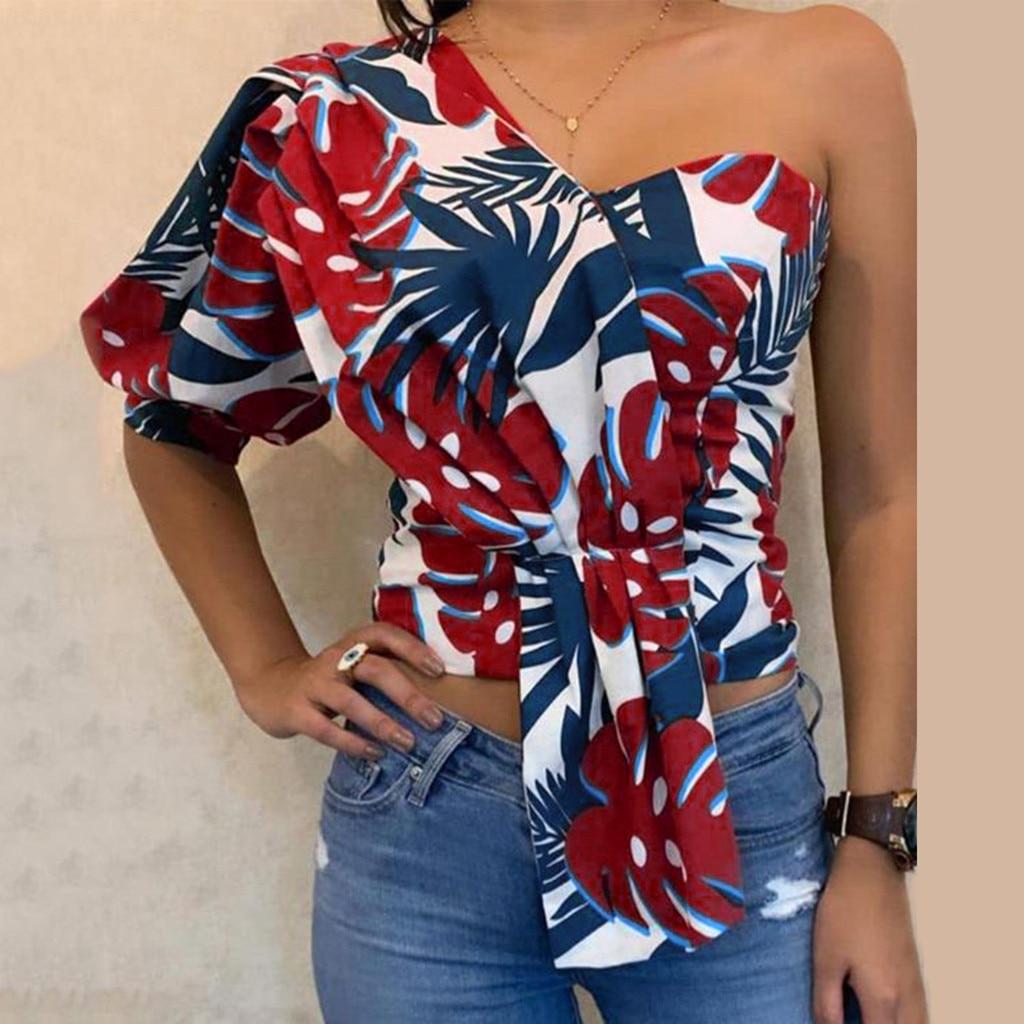 Blusas de Mujer, Tops con hombros descubiertos, jersey con estampado a rayas, jerséis, Tops tejidos casuales, Blusa de manga corta, Camiseta para Mujer # P30