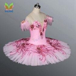 Rosa dança ballet traje clássico profissional ballet tutu saia para meninas nutcracker ballet vestido
