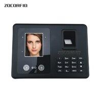 Free shipping Biometric Fingerprint & face Time Attendance Clock Recorder Employee Digital Electronic English menu& Human voice