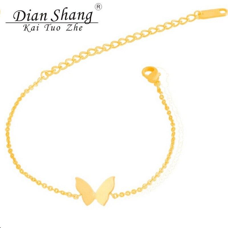 DIANSHANGKAITUOZHE Christmas Gifts Bracelet Fashion Jewelry Gold Silver Chain Butterfly Wings Charm Bracelets For Women Girls