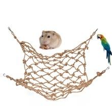 New Parrot Climbing Net Bird Toy Swing Rope Net Bird Stand Net Hammock With Hook Bird Hanging Climbing Chewing Biting Toys