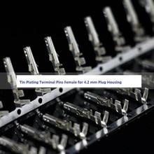 Borne de Contact à sertir plaquée Bronze Phosphor   100 pièces broche de Contact 5556-RT pour 4.2mm 5557 boîtier de connecteur dalimentation