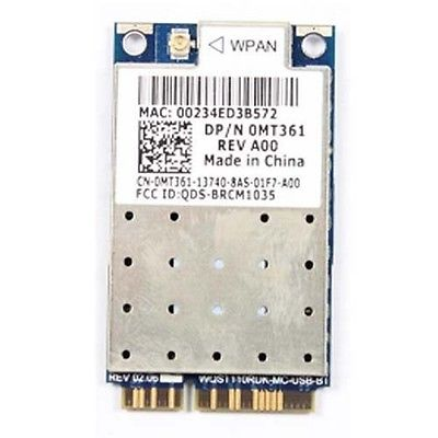 Tarjeta adaptadora inalámbrica para Dell Studio 1535 1536 1537 1735 inalámbrica MT361 410 UWB WPAN con tarjeta Bluetooth