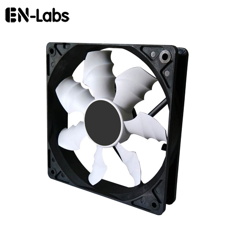 3 way pc cooler cooling 3pin fan speed controller for cpu case hdd ddr graphics card w self stick power molex ide 4pin female En-Labs 120mm Sleeve Bearing Case Fan Cooler Cooling Heatsink for PC Computer,12CM Fan Radiators Power by 3pin or molex 4pin