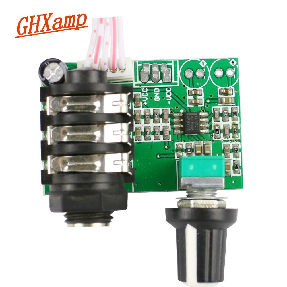 GHXAMP מגביר Preamp גיטרה מכשיר TL072 Op Amp גבוהה עכבת אודיו לוח מראש מגבר אות מגבר יחיד 12 v