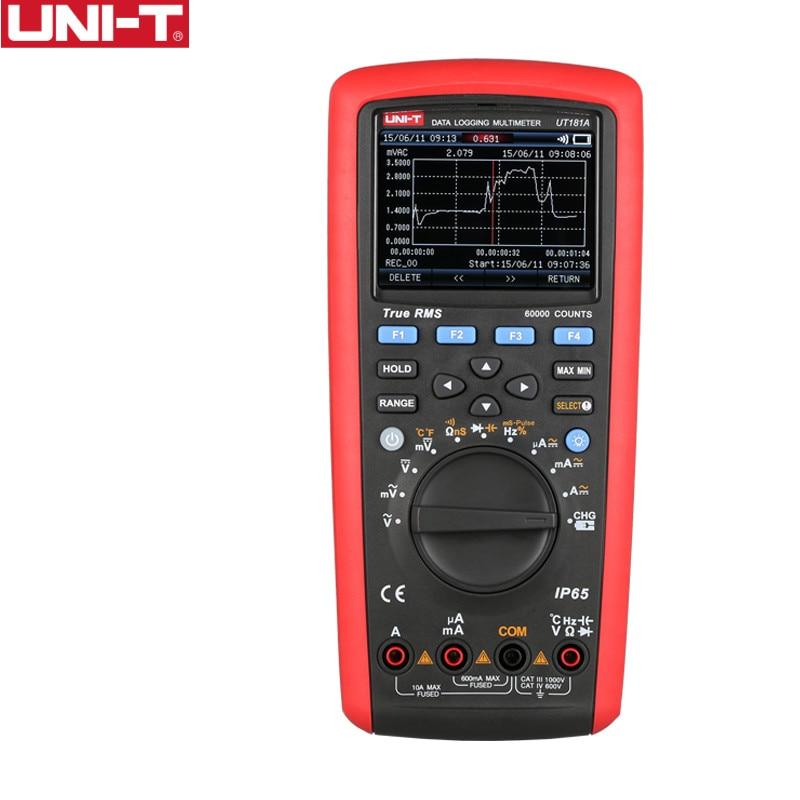 UNI-T UT181A صحيح RMS السيارات المدى المتعدد IP65 الصناعية DMM 60000 عدد برامج الكمبيوتر السعة درجة الحرارة المقاومة متر