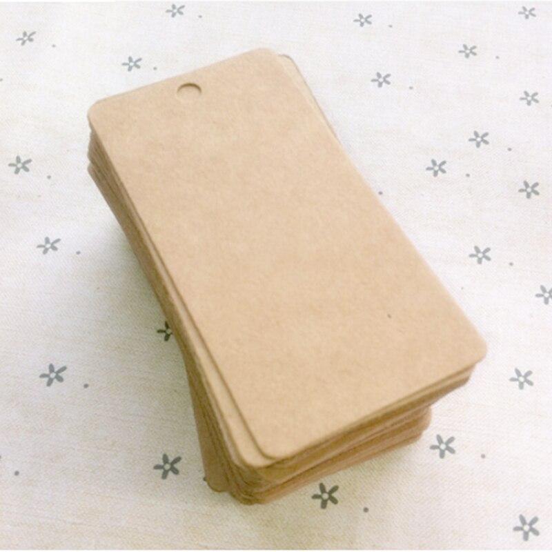 100 pçs kraft marrom papel em branco preço pendurar tag kraft bagagem nota do casamento presentes diy artesanato preço bagagem etiquetas de nome