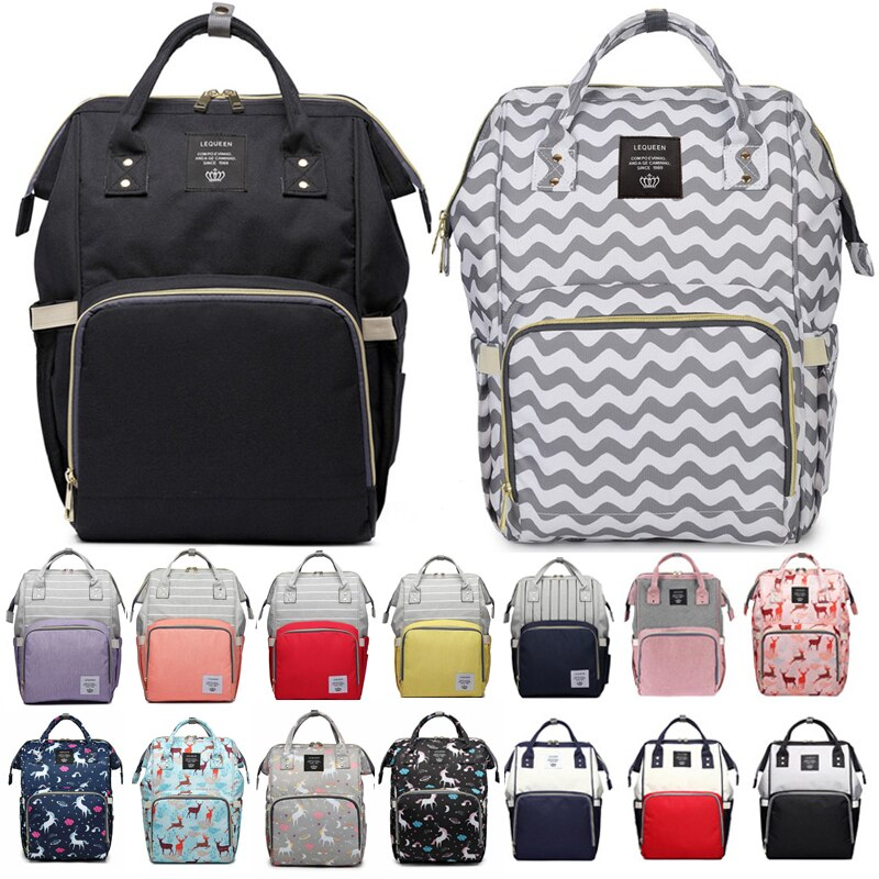 Fashion Mama Maternity Nappy Bag Large Capacity Baby Care Bag Mom Backpack Desinger Nursing Bag for Stroller Mochila Mamae