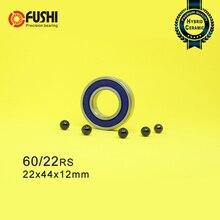 Roulement céramique hybride 60/22   Roues avant arrière pour vélo de course, 60 22 2RS, LUU hybrides Si3N4, roulements à billes 60/22RS, 22*44*12mm, 1PC